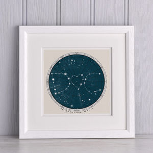 Personalised Star Map Print - anniversary prints