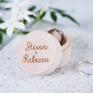 Personalised Couples Ring Box - jewellery storage & trinket boxes