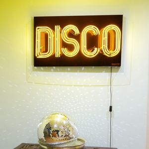 'Disco' Typographic Neon Light Sign