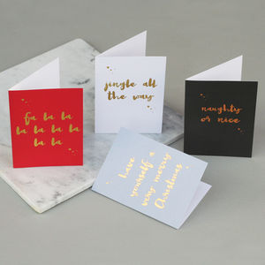 Luxury Mixed Christmas Card Pack Five