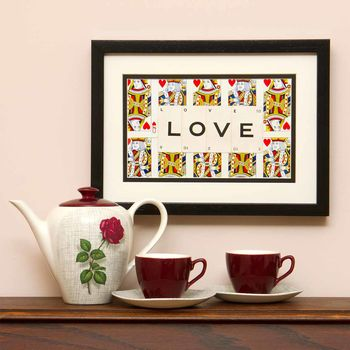 Love Playing Card Frame