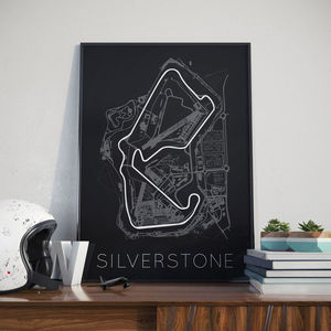 British Silverstone Race Track Print - posters & prints
