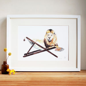 'Just Lion Around' Print - drawings & illustrations