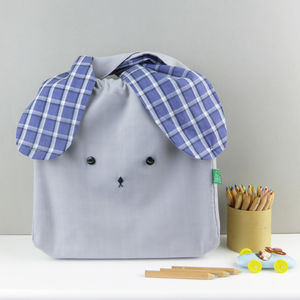 Bunny Rabbit Checks Fabric Bag