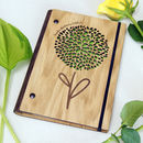 Personalised Wooden Gardening Notebook