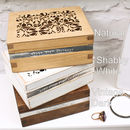 Choice of Personalised Wooden Trinket Boxes