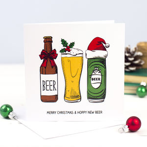 'Hoppy New Beer' Christmas Card - christmas sale