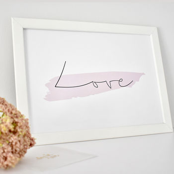 'Love' Contemporary Typography Print
