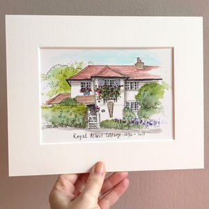 Personalised House Portrait Hand Illustrated - limited edition art