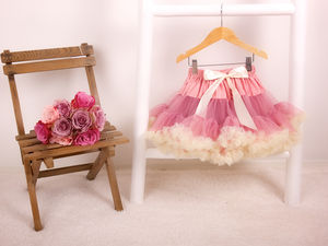 Girls Rose And Cream Pettiskirt Tutu - bridesmaid dresses