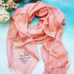 Personalised A Hug From Me To You Scarf - for grandmothers