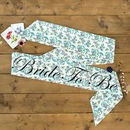 Blue Flowers Vintage Style Hen Party Sash