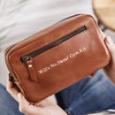 Gym Kit Leather Wash Bag
