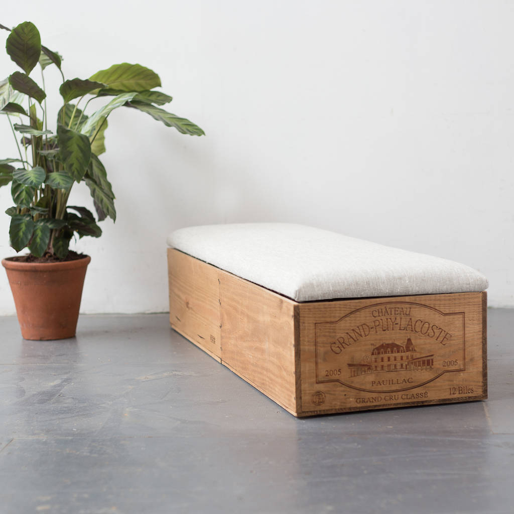 Wine Crate Ottoman Bedroom Storage By Made Anew Notonthehighstreet Com
