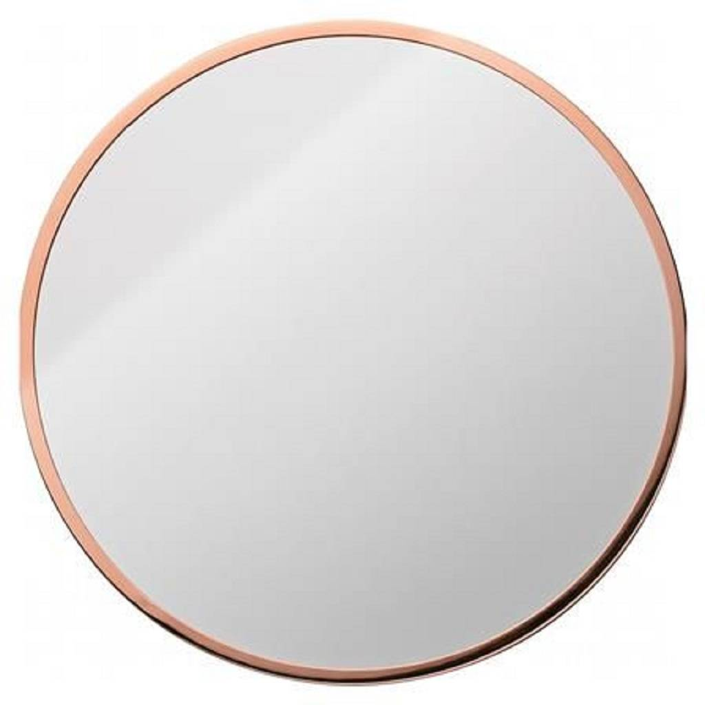 Copper framed round mirror by posh totty designs interiors Round framed mirror