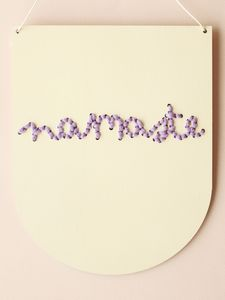 Hand Painted Wooden Embroidery Craft Kit 'Namaste'