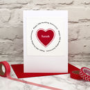 Heart Personalised Wedding Anniversary Card
