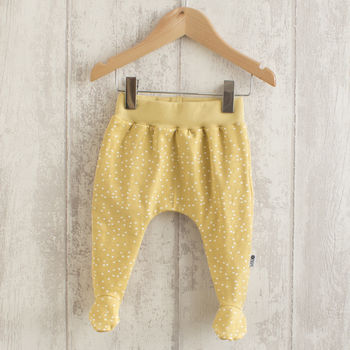 Gold Dot Baby Footed Leggings