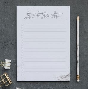 'Let's Do This Shit' Motivational A5 Notepad