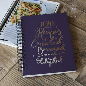 Personalised Recipe Book - gifts for mothers