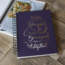 Personalised Recipe Book
