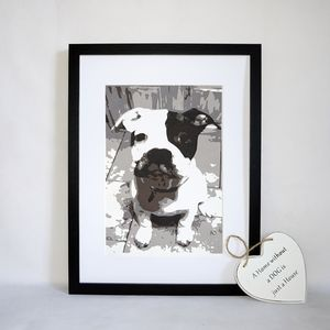 Personalised Pet Portrait Layered Papercut