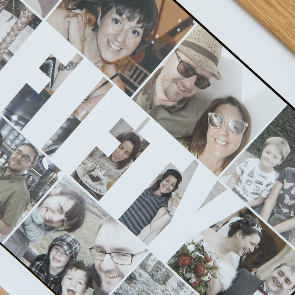 Personalised Fifty Photo Collage Birthday Gift By Hello Ruth