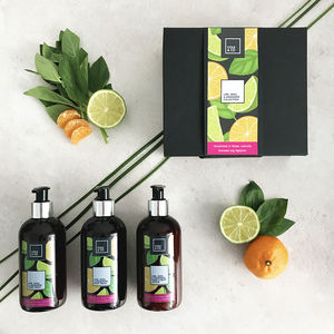 The Energising Lime, Mandarin And Basil Gift Set - new in health & beauty