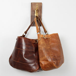 Lola Brown Leather Tote - more