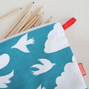 Pencil Case With Clouds Design