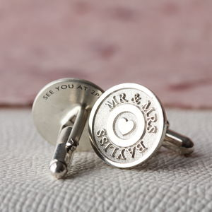 Deep Engraved Heart Cufflinks - view all
