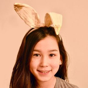 Glitter Tipped Bunny Ears - children's easter