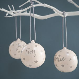 Family Christmas Baubles Personalised