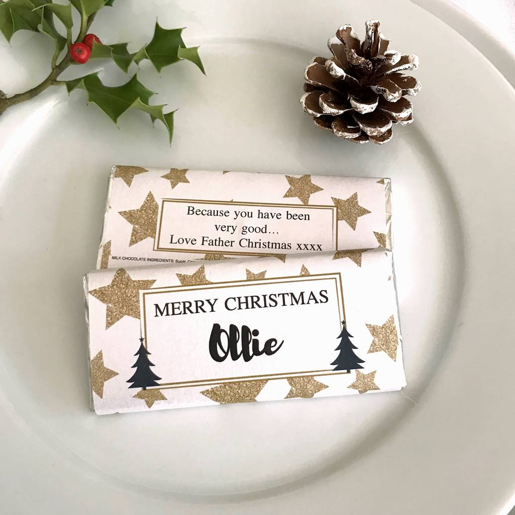 Christmas Place Setting Gold Star Chocolates