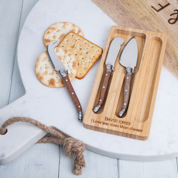 Cheese Knife Set With Spear Knife, Spreader And Spade