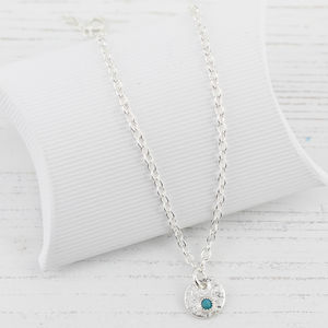 Sterling Silver Personalised Birthstone Anklet