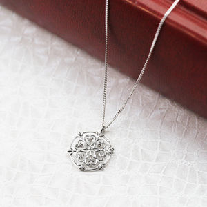 Sterling Silver Heart Snowflake Necklace - necklaces & pendants
