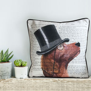 Red Setter Cushion, Formal Dog Collection - children's room