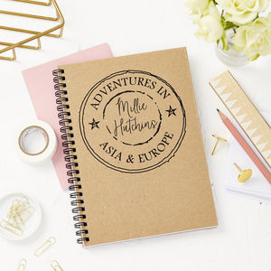 Personalised 'Adventures In' Notebook
