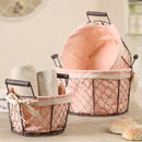 Country Farmhouse Chicken Wire Storage Baskets