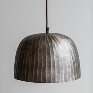 Brass Domed Pendant Light - living room
