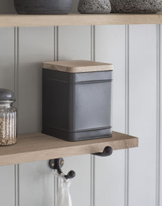 Borough Canister In Charcoal - kitchen accessories