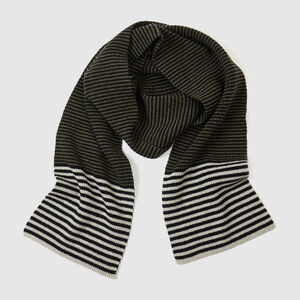Striped Lambswool Scarf | Fern