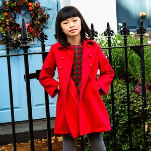 Girls Classic Red Coat