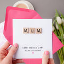 Personalised Mum Wooden Scrabble Card