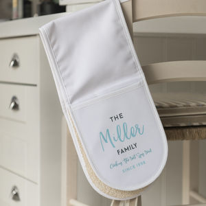 Personalised Family Oven Gloves - oven gloves & mitts