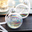 Personalised Iridescent Christmas Bauble