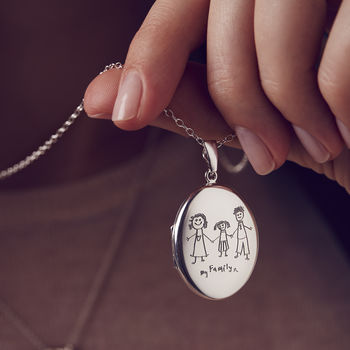 Personalised My Favourite Drawing Locket