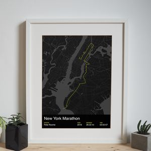 Personalised New York Marathon Map Print - posters & prints