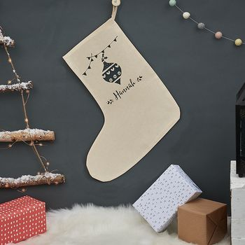 Personalised Christmas Bauble Stocking